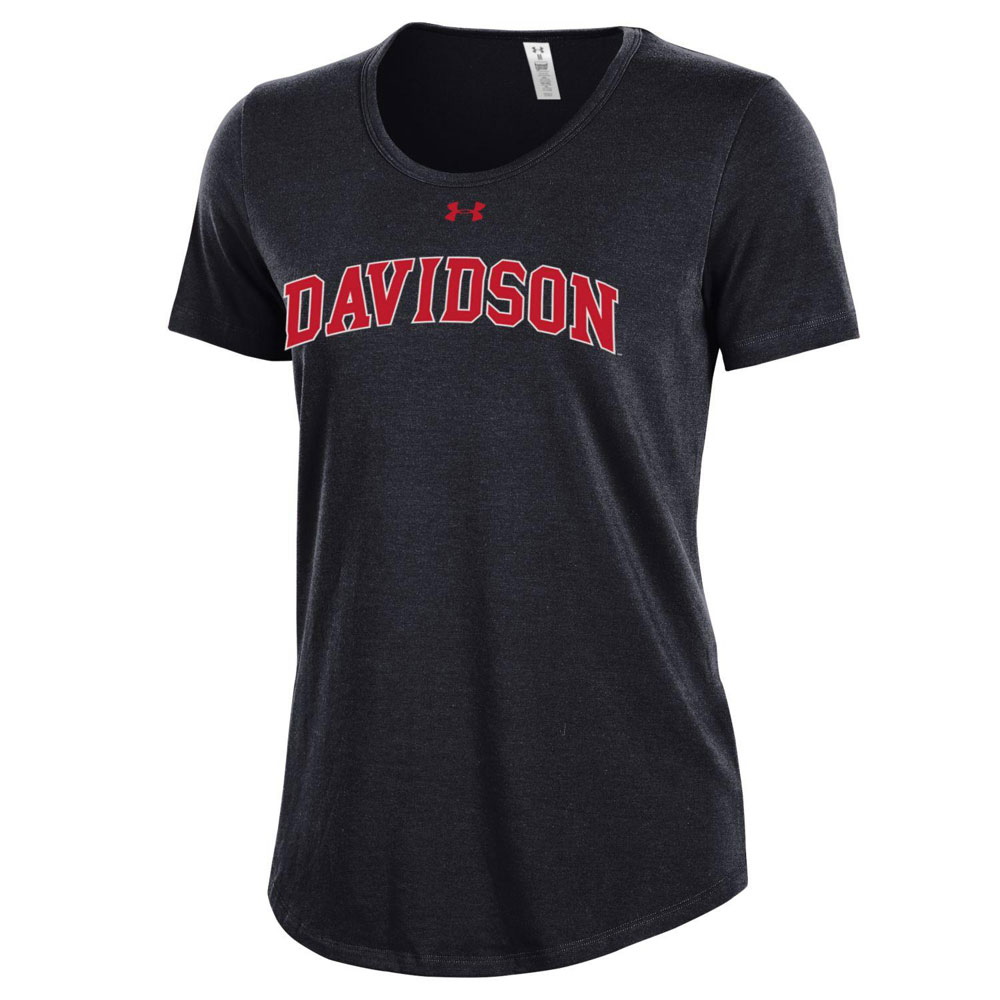 Image For WOMEN'S BLACK T SHIRT-DAVIDSON ARCHED
