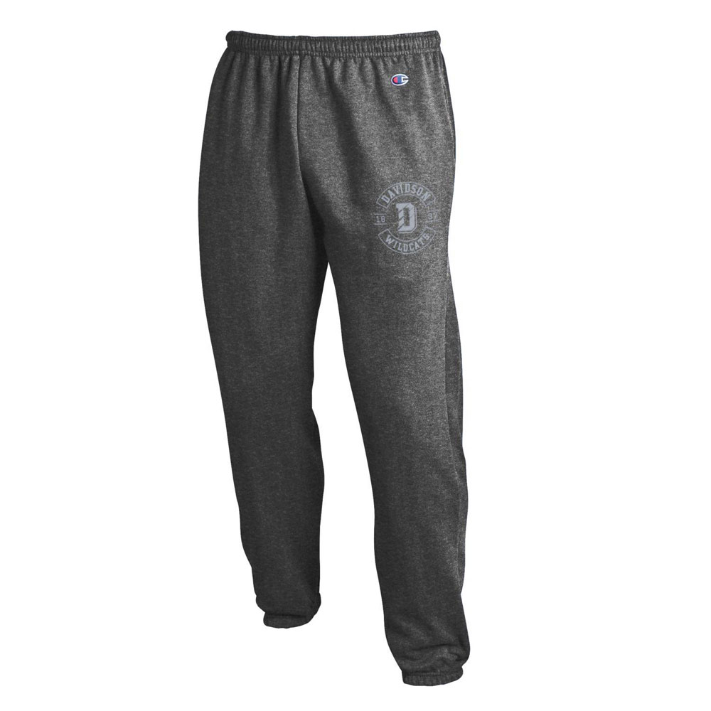 Image For Pants Fleece Charcoal Banded Bottom