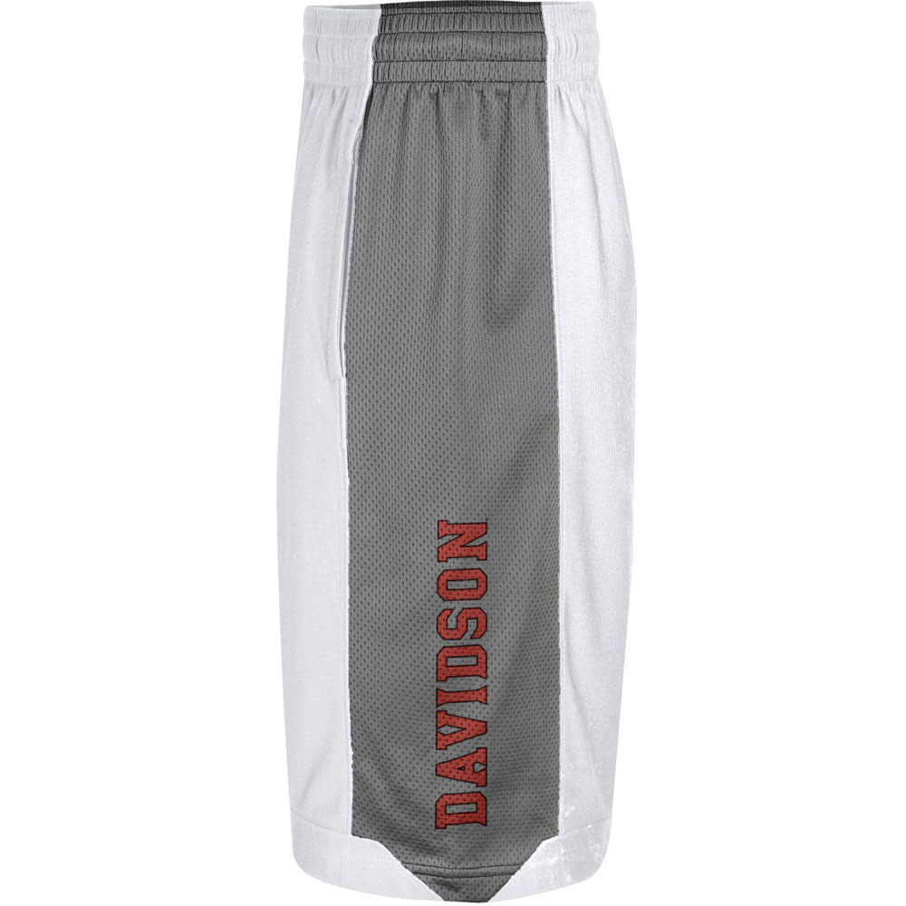 Image For Shorts Isolation - White - Davidson Logo