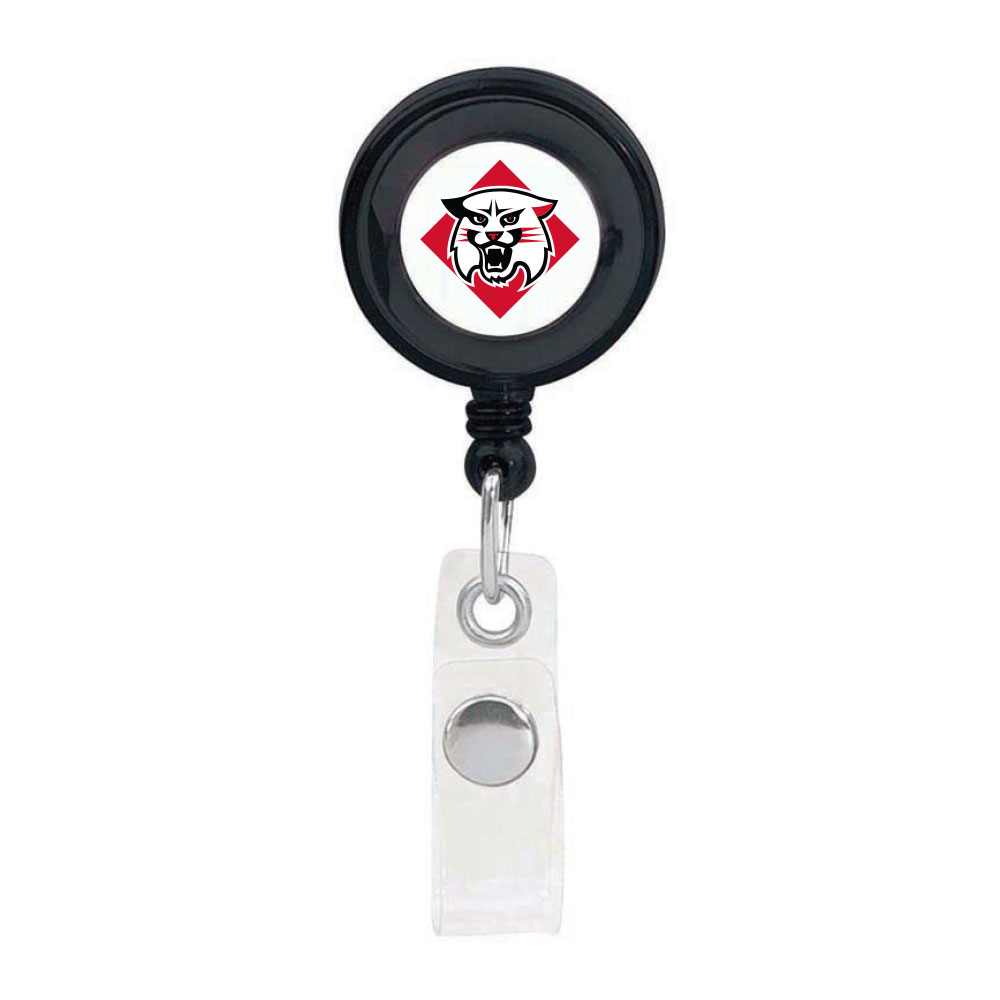 Image For Retractable ID Badge Holder Black