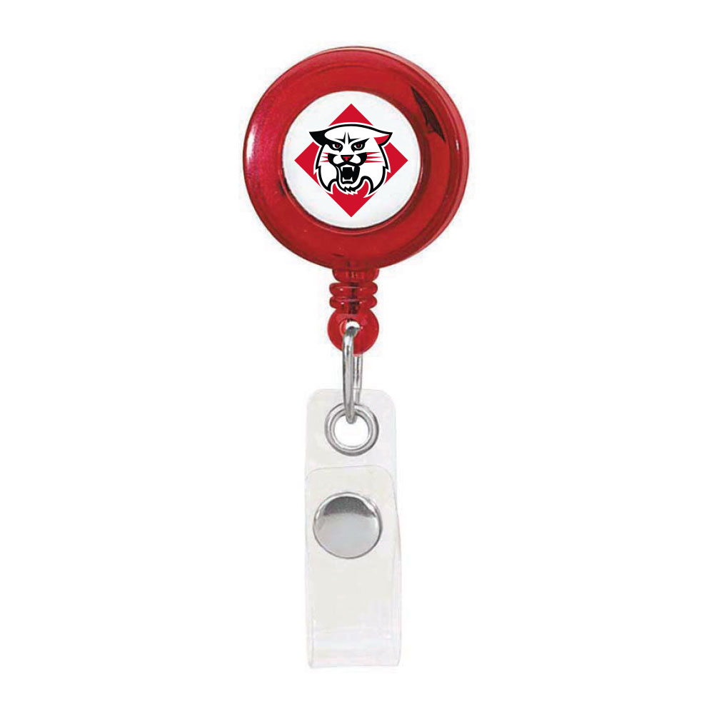 Image For Retractable ID Badge Holder Red