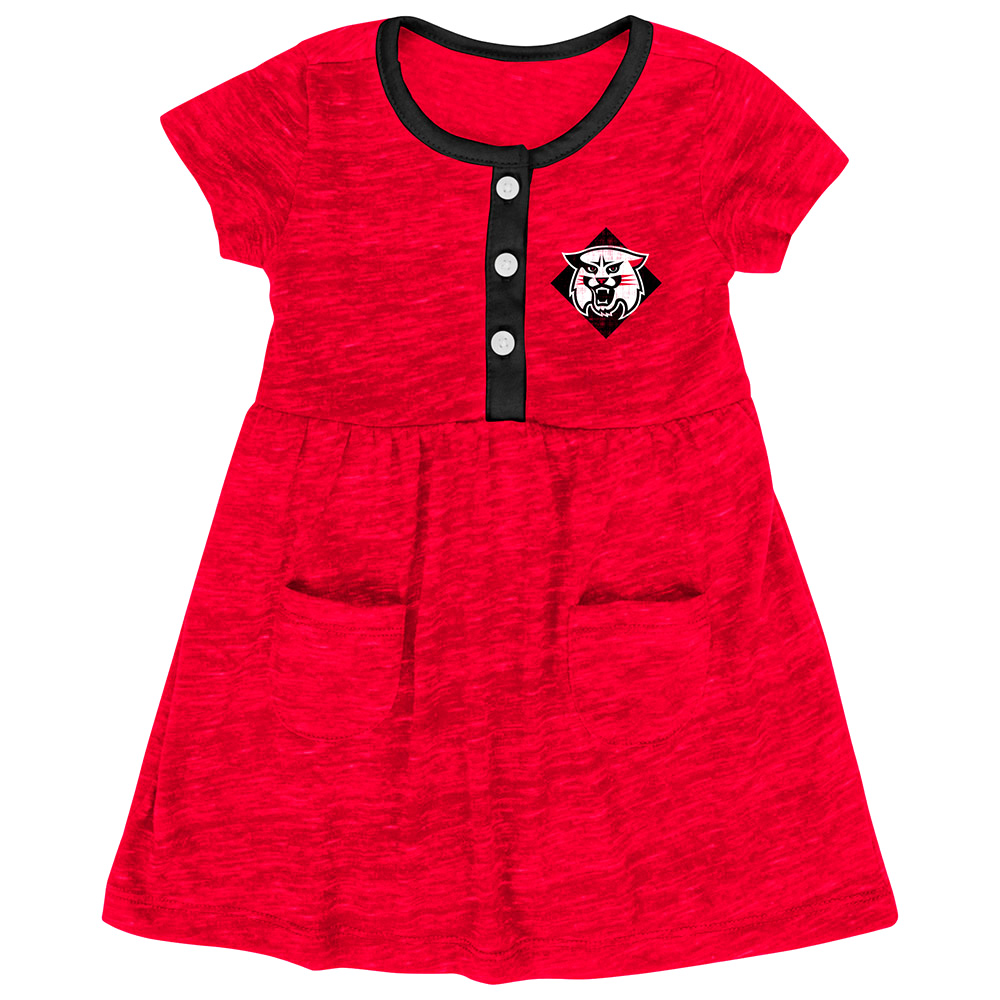Image For Infant Girls Triple Jump Red Dress