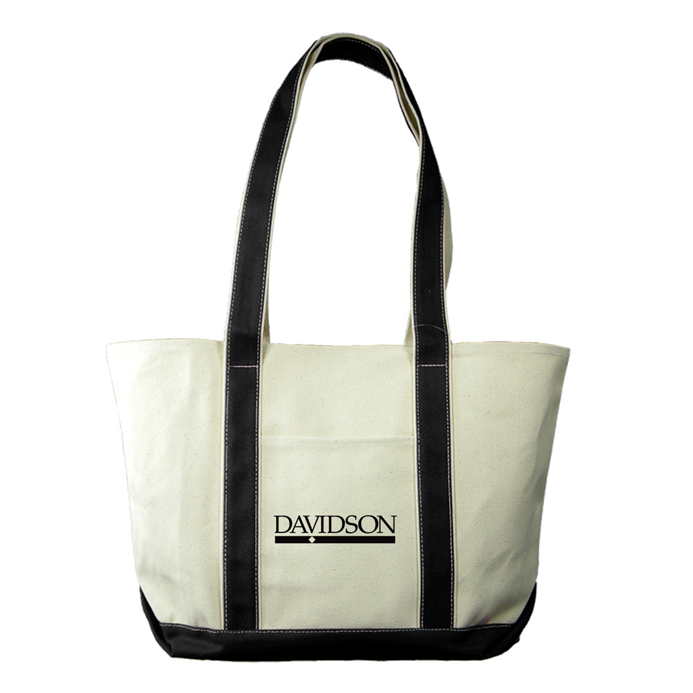 Image For Medium Canvas Boat Tote Black