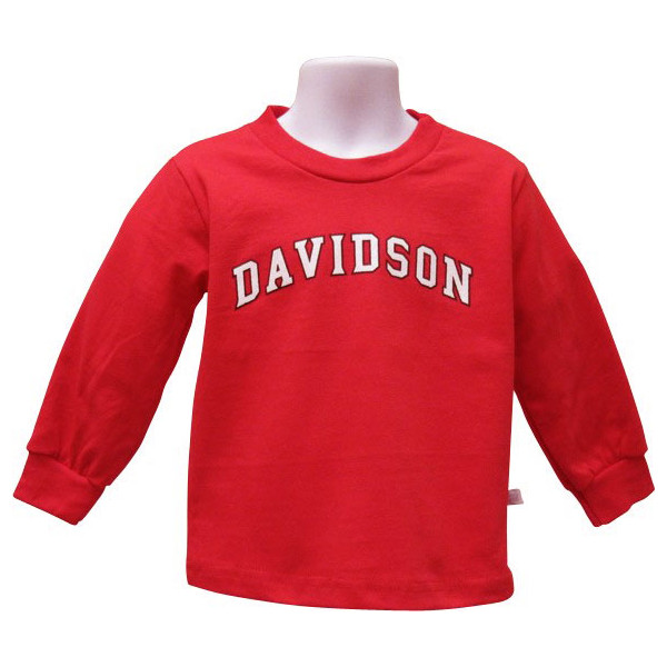 Image For Infant Long Sleeve T Shirt -Red- Davidson Arched