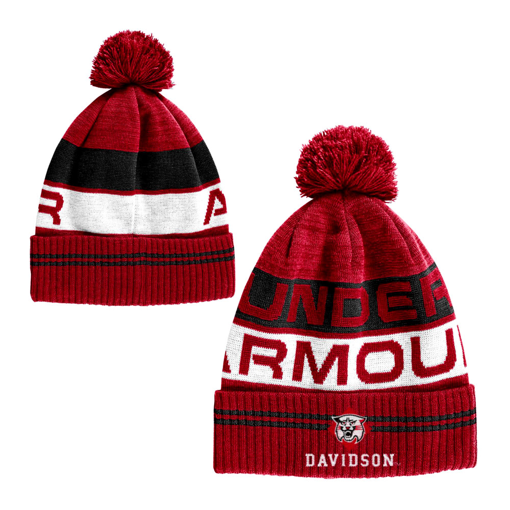 Image For Youth Red Knit Hat With Pom