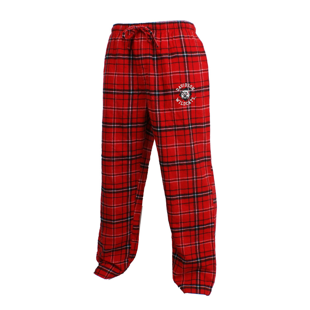 Image For PANTS PLAID FLANNEL - Red