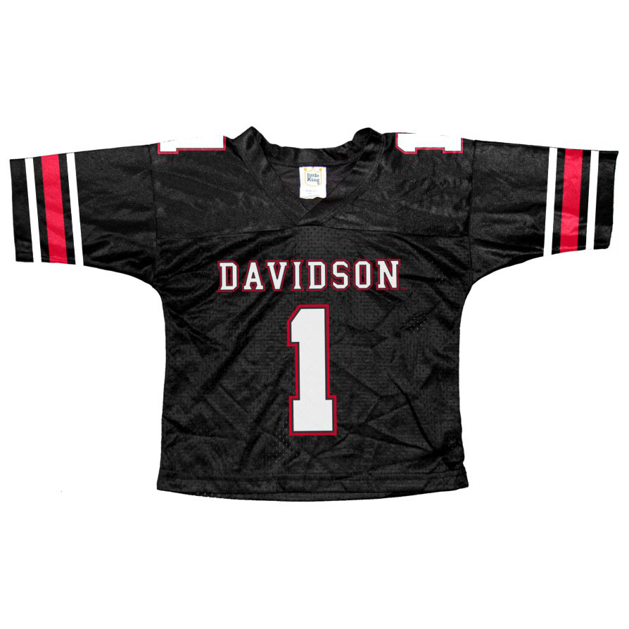 Image For Youth Football Jersey - Black - #1 Logo