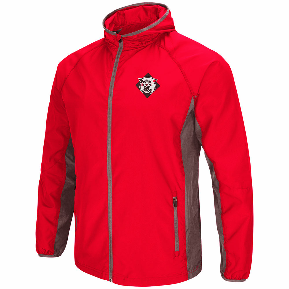 Image For Red Full Zip Hooded Jacket