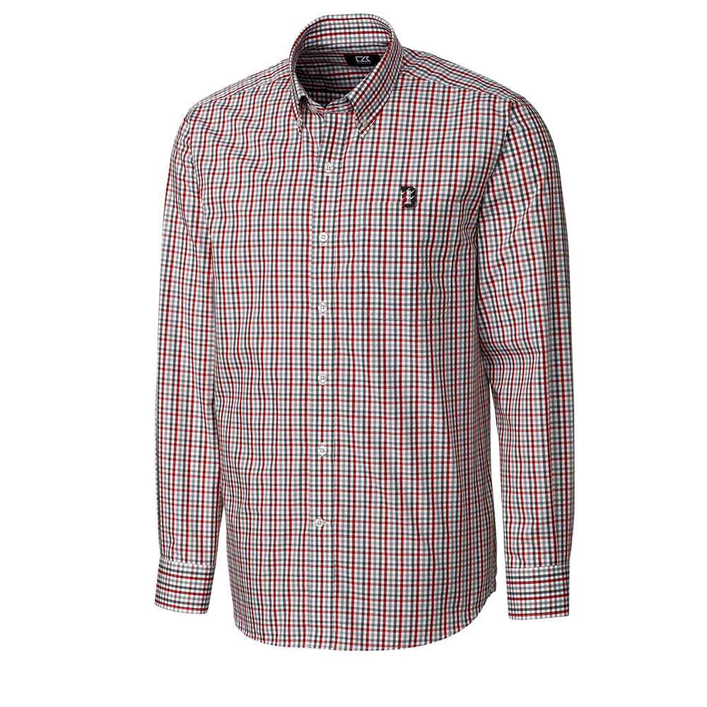 Image For Long Sleeve Gilman Plaid Shirt - D Logo