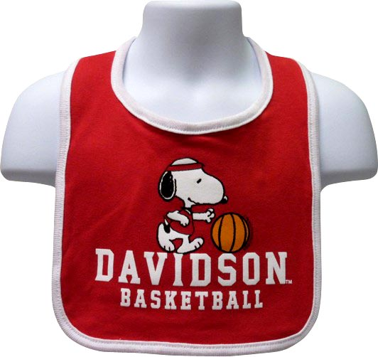 Image For Bib Red Snoopy With Davidson Basketball