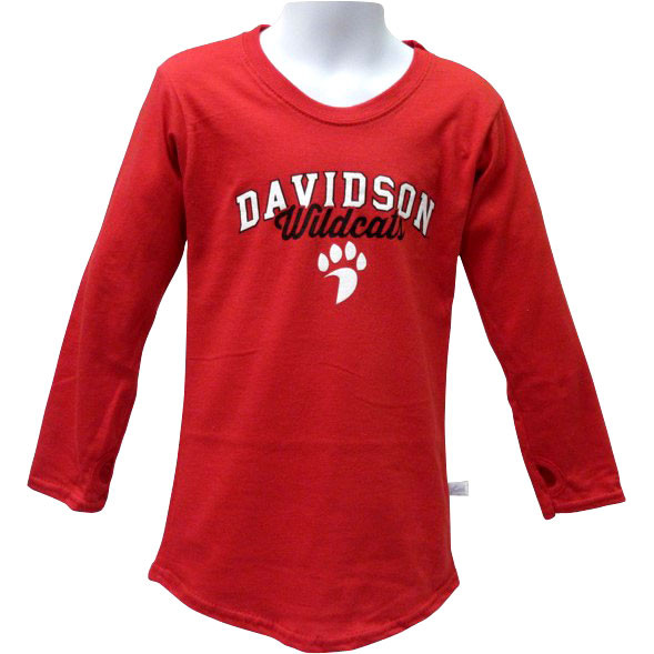 Image For Youth Girls Red Long Sleeve Tee With Paw