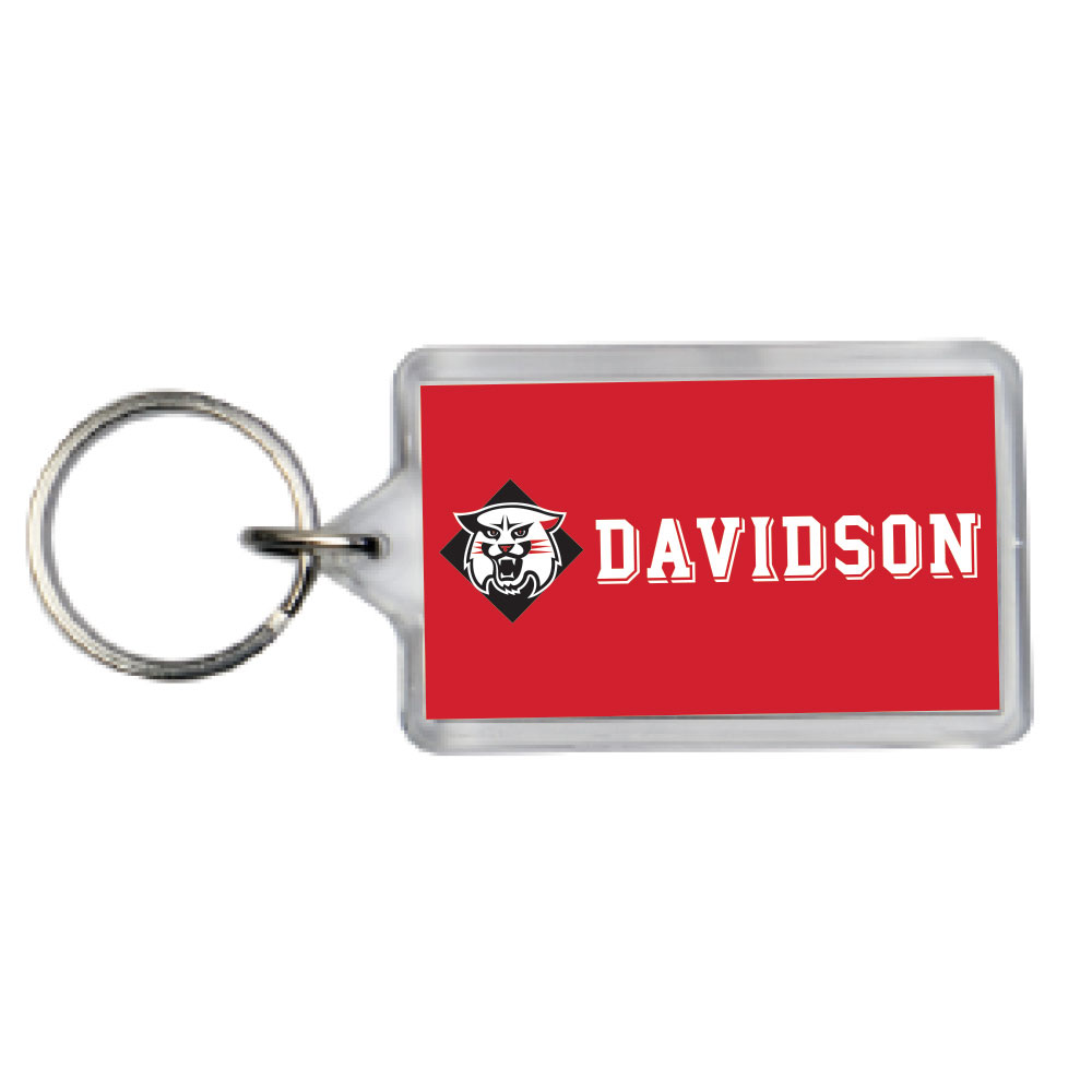 Image For Key Chain Acrylic - Wildcat & Davidson Straight Logo