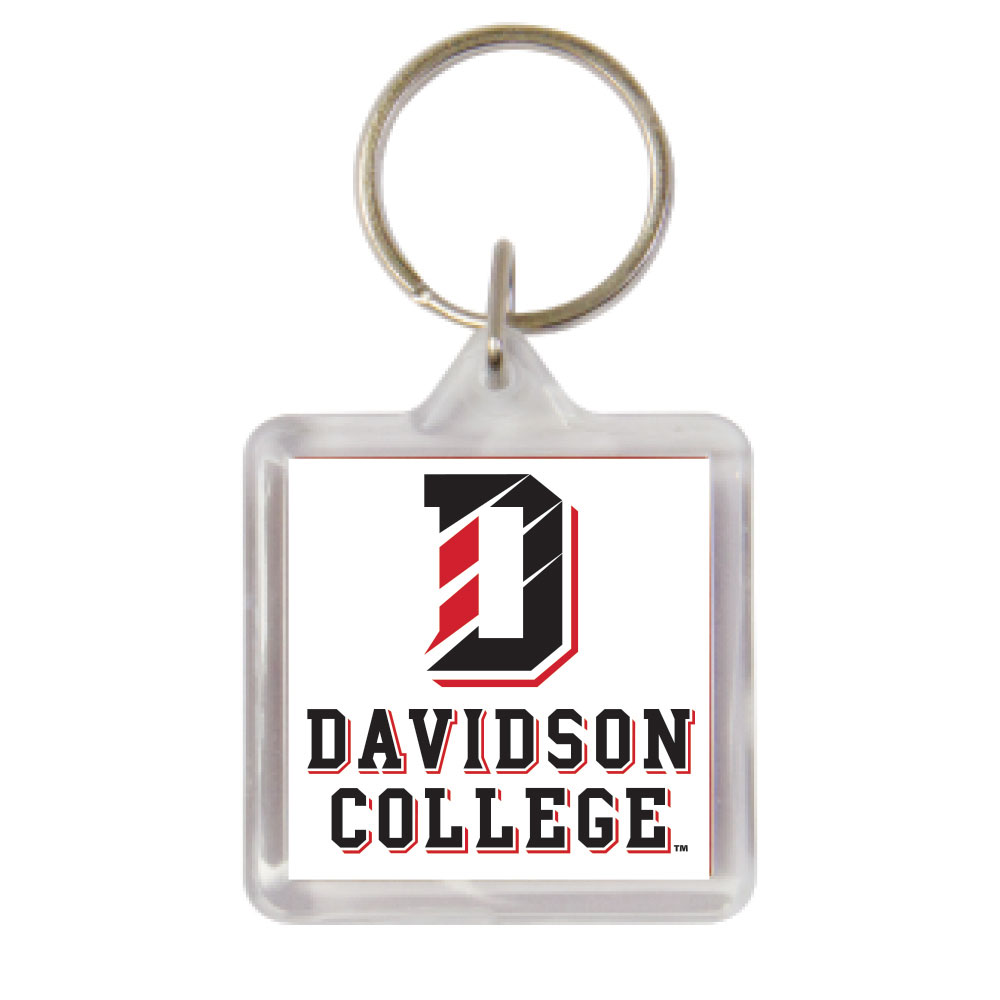 Image For Key Chain Acrylic - D Over Davidson College Logo