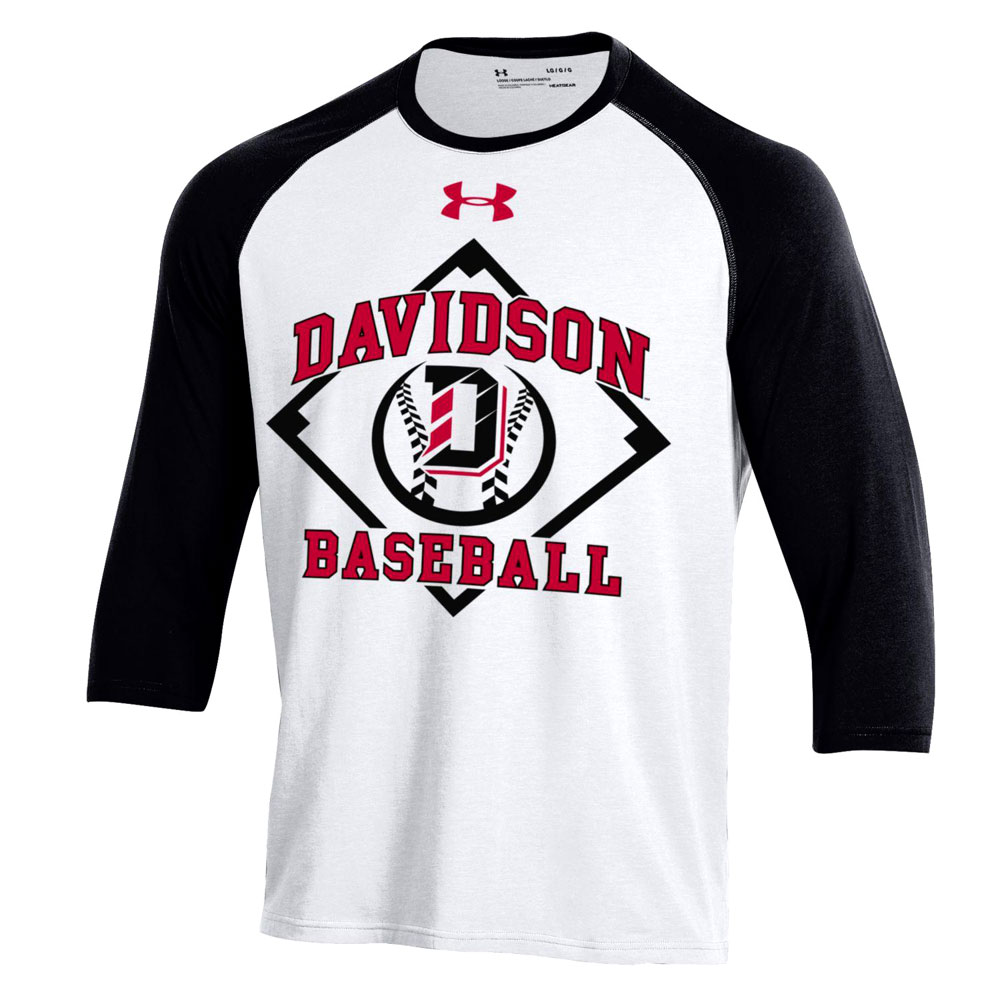Image For T Shirt Baseball Charged Cotton White With Black Sleeves
