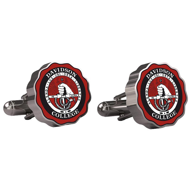 Image For Cufflinks - Stainless Steel - College Seal Logo