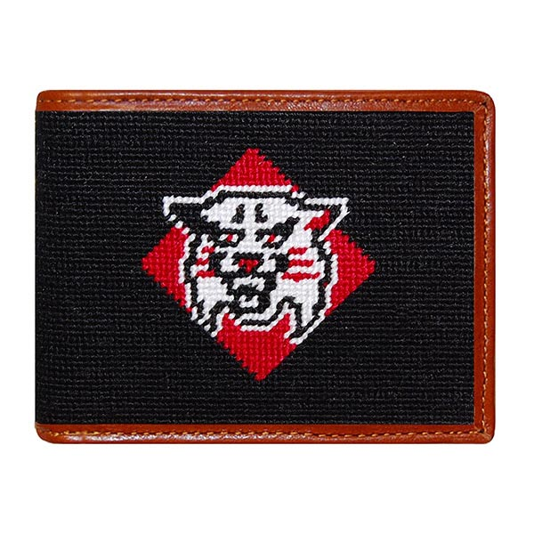Image For Davidson Needlepoint Bi-fold Wallet With Wildcat Logo