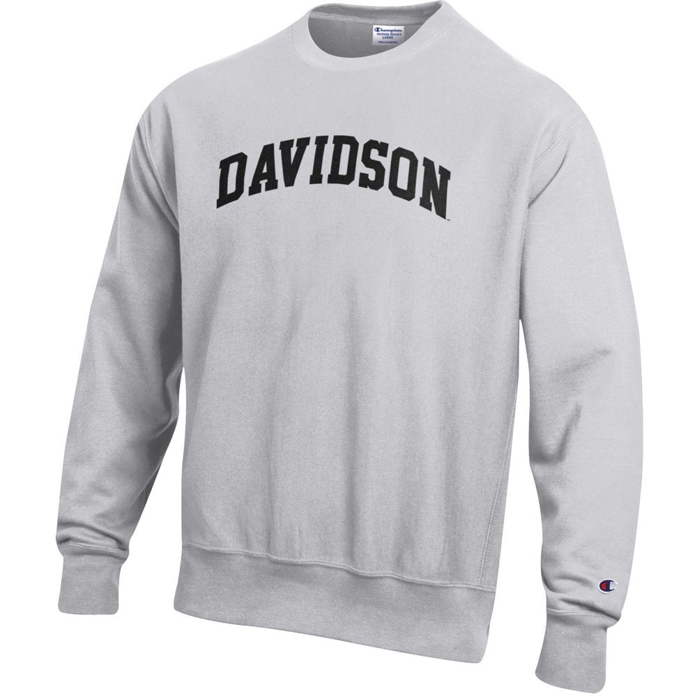 Image For Sweatshirt Crew-Silver Gray-Reverse Weave-Davidson Arched