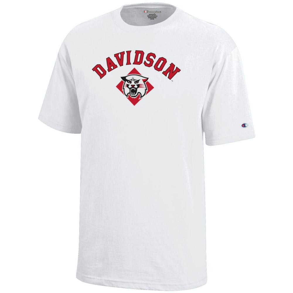 Image For Youth T Shirt - White - Davidson Over Wildcat