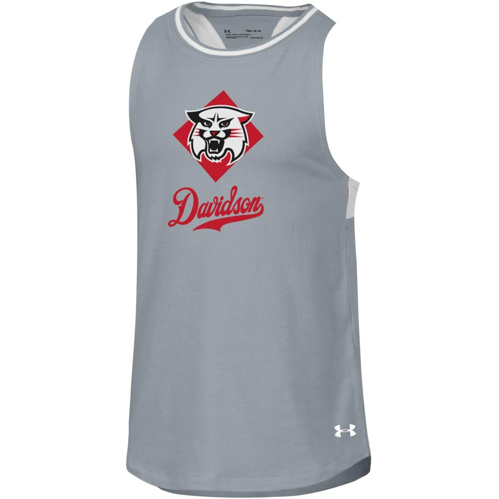 Image For Youth Girls Varsity Steel Heather Pinehole Tank