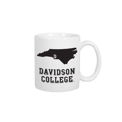 Image For Mug White-State of NC & Davidson College