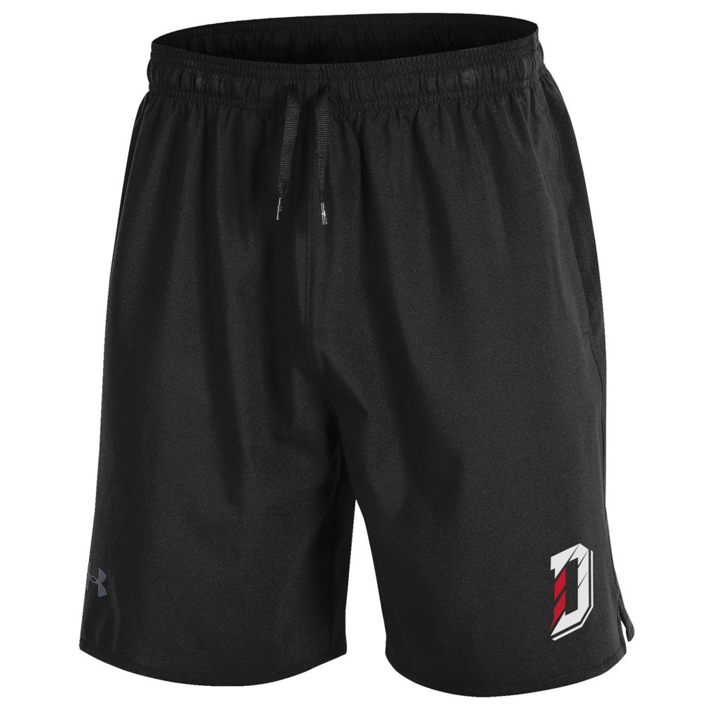 Image For Shorts Woven - Black - D Logo