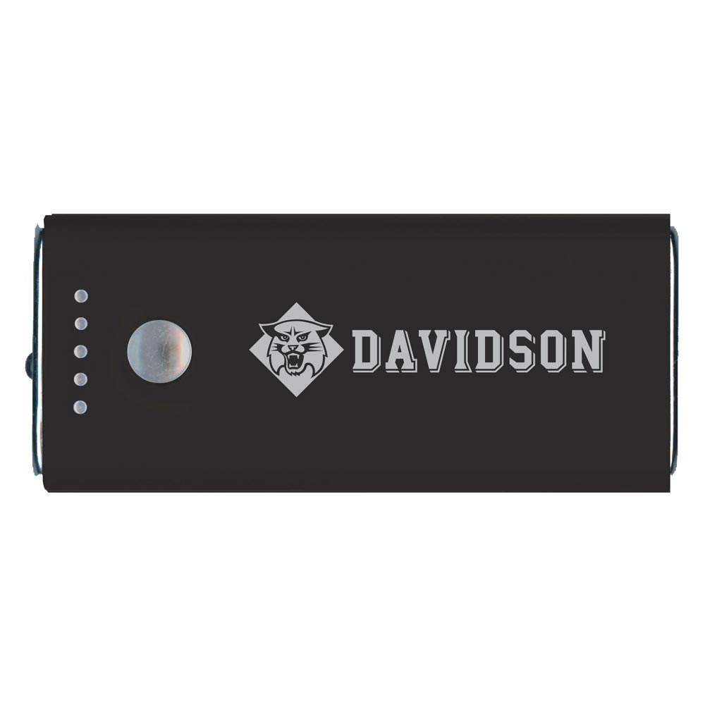 Image For 5200mAh Black Power Bank With Davidson Logo