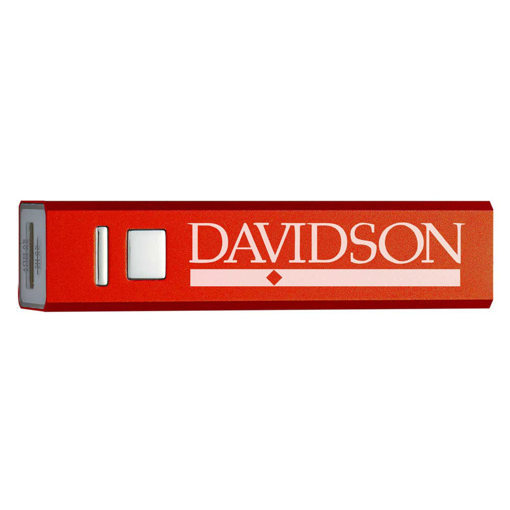 Image For Portable Red Power Bank With Bar Diamond Logo