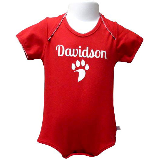 Image For Infant Onesie Red-Davidson Over Paw