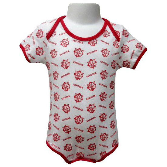 Image For Infant Onesie White-Wildcats & Davidson