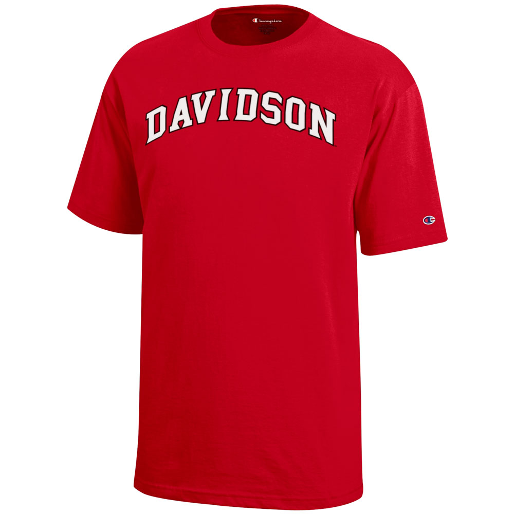 Image For Youth T Shirt - Red - Davidson Arched