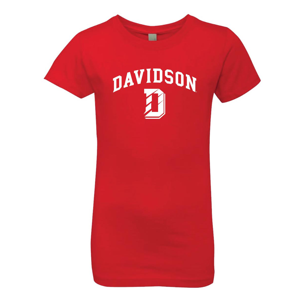 Image For Youth Girls Tee -Red- D Over Davidson