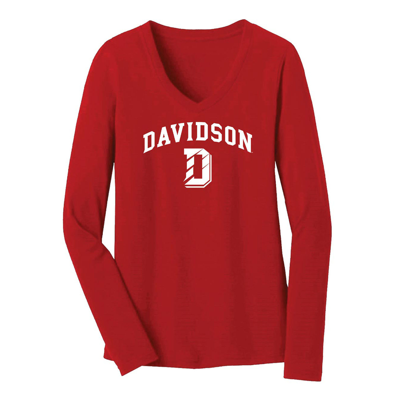 Image For Youth Girls Long Sleeve Tee -Red- D Over Davidson