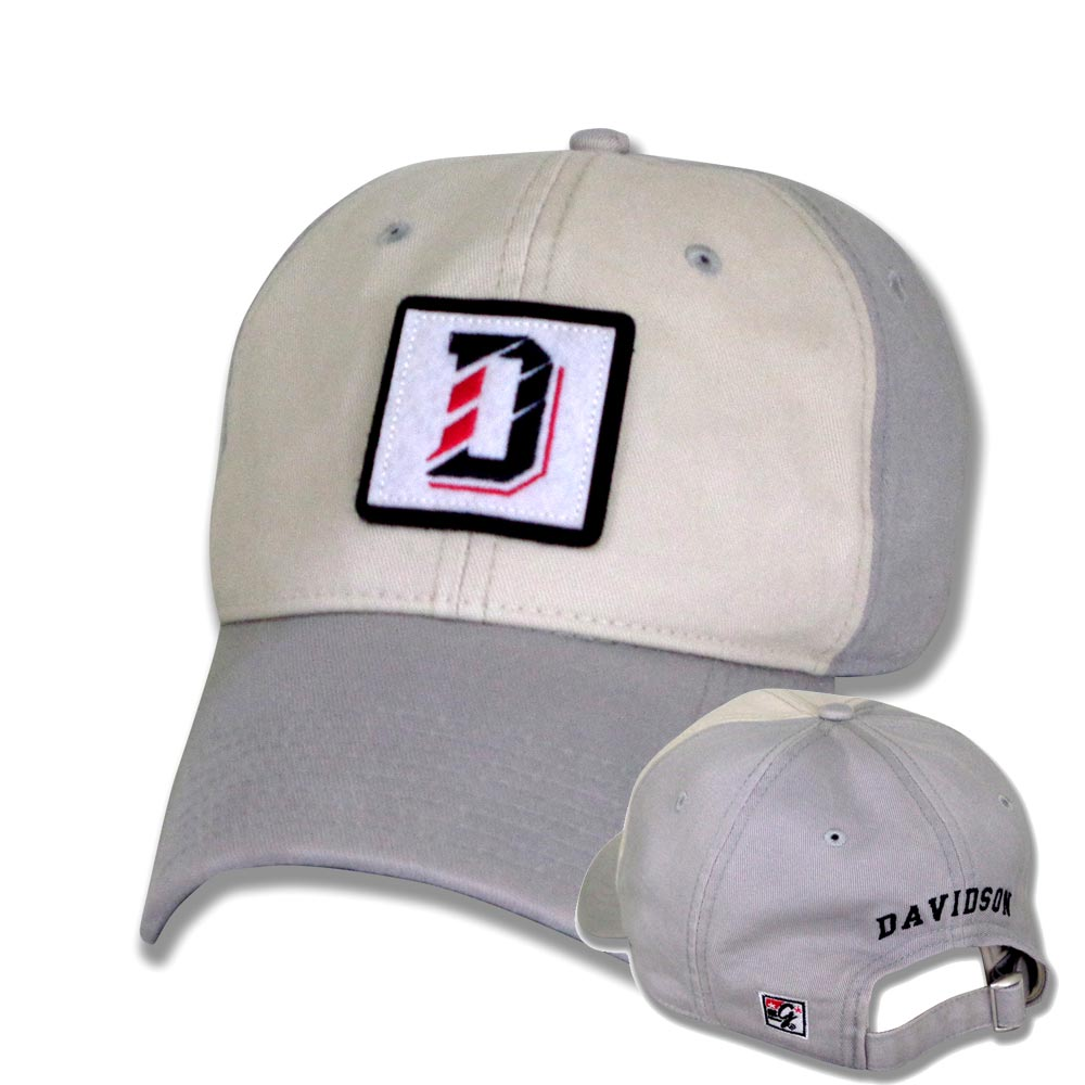 Image For Hat Light Grey Washed Twill-D Logo