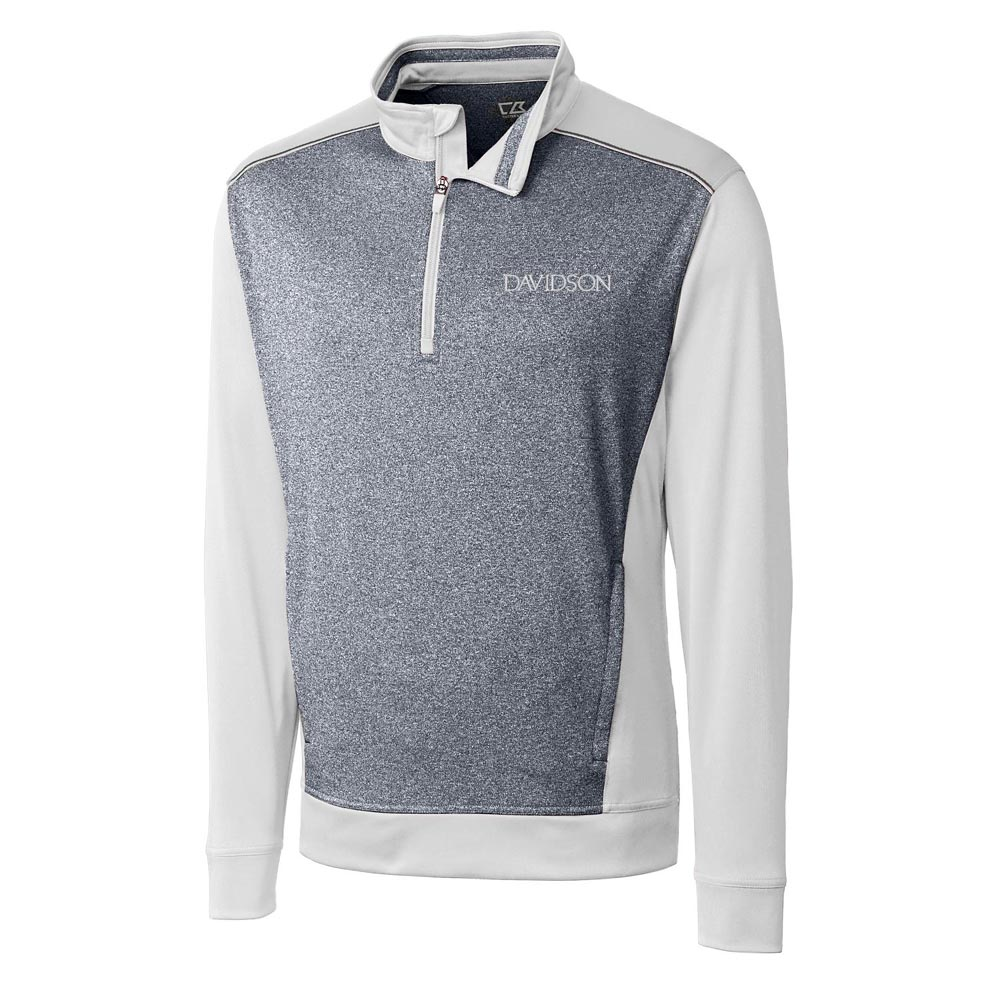 Image For Jacket 1/2 Zip - White - Davidson Logo