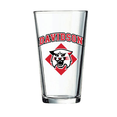 Image For Glass Pint-Davidson Over Wildcat