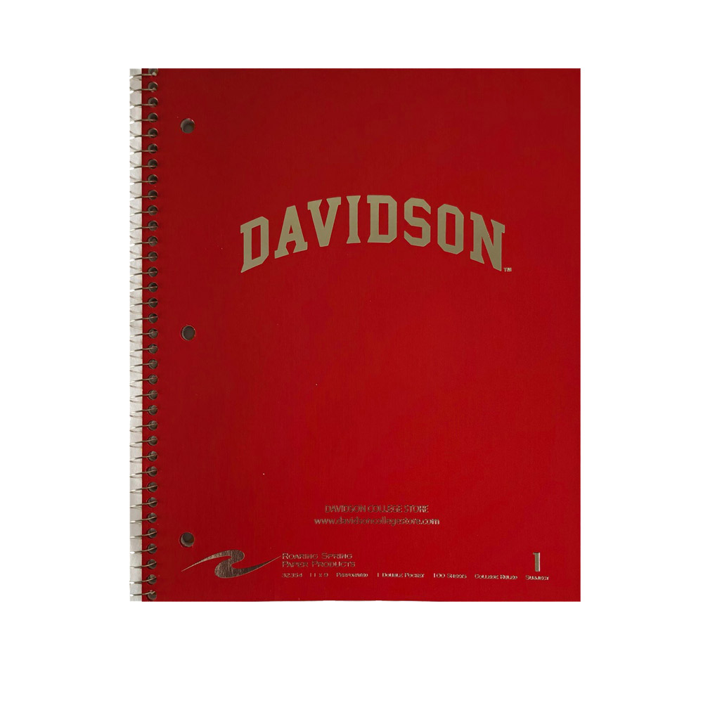Image For Imprinted 1 Subject Notebook - Red - Davidson Arched