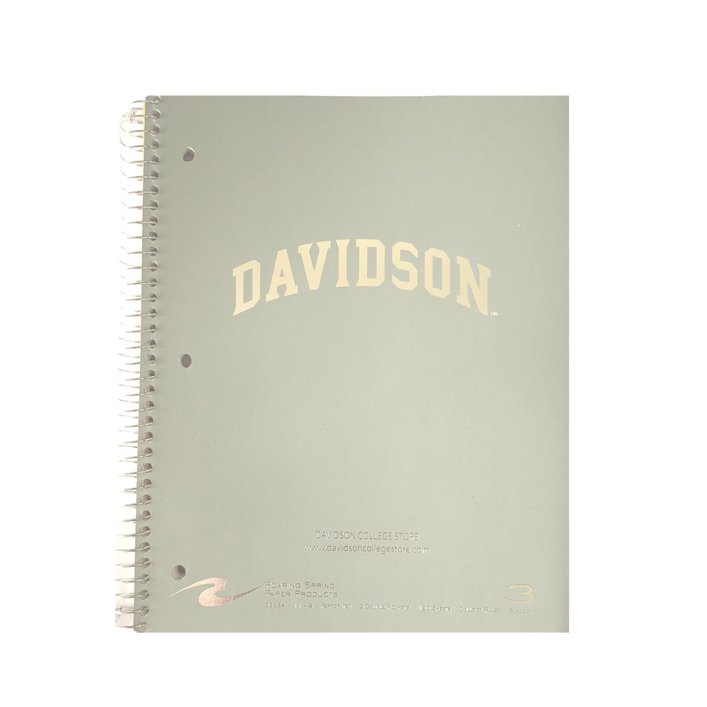 Image For Imprinted 3 Subject Notebook - Grey - Davidson Arched