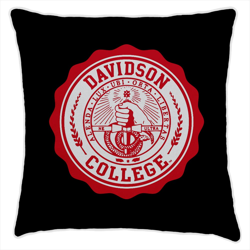 Image For Pillow - Black - College Seal Logo