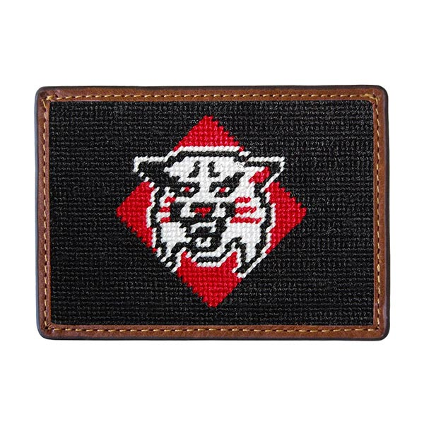 Image For Card Wallet-Needlepoint Wildcat Logo
