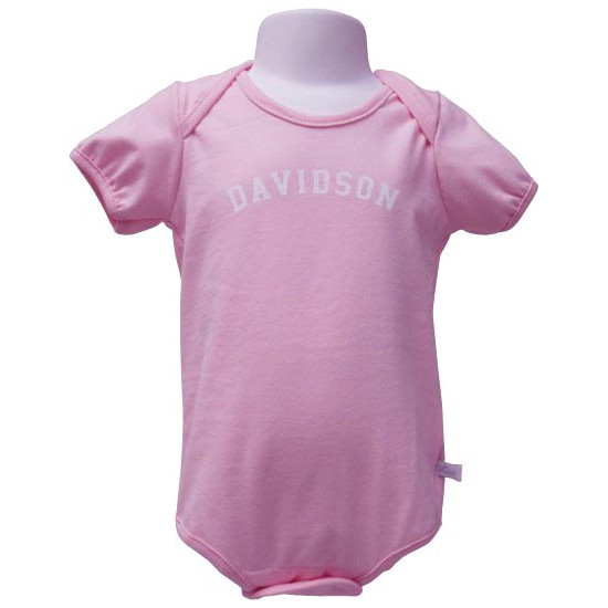 Image For Infant Onesie - Pink-Davidson Arched
