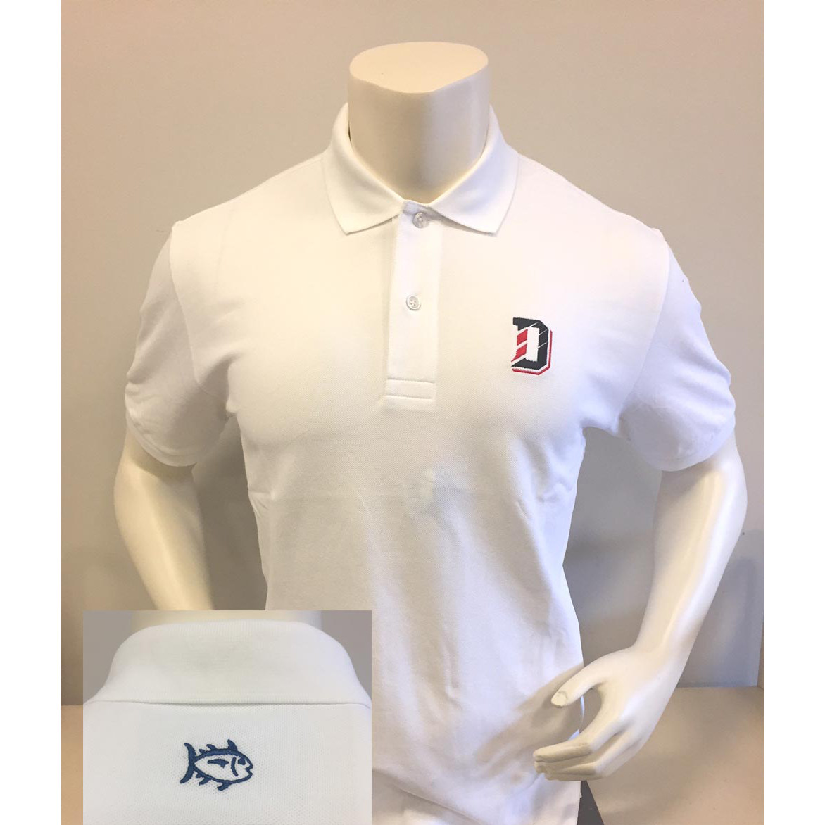 Image For Polo Gameday Skip Jack - White - D Logo