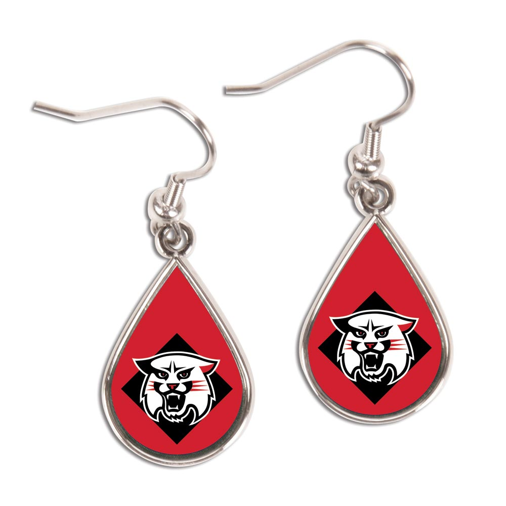 Image For Earring Tear Drop - Wildcat Logo