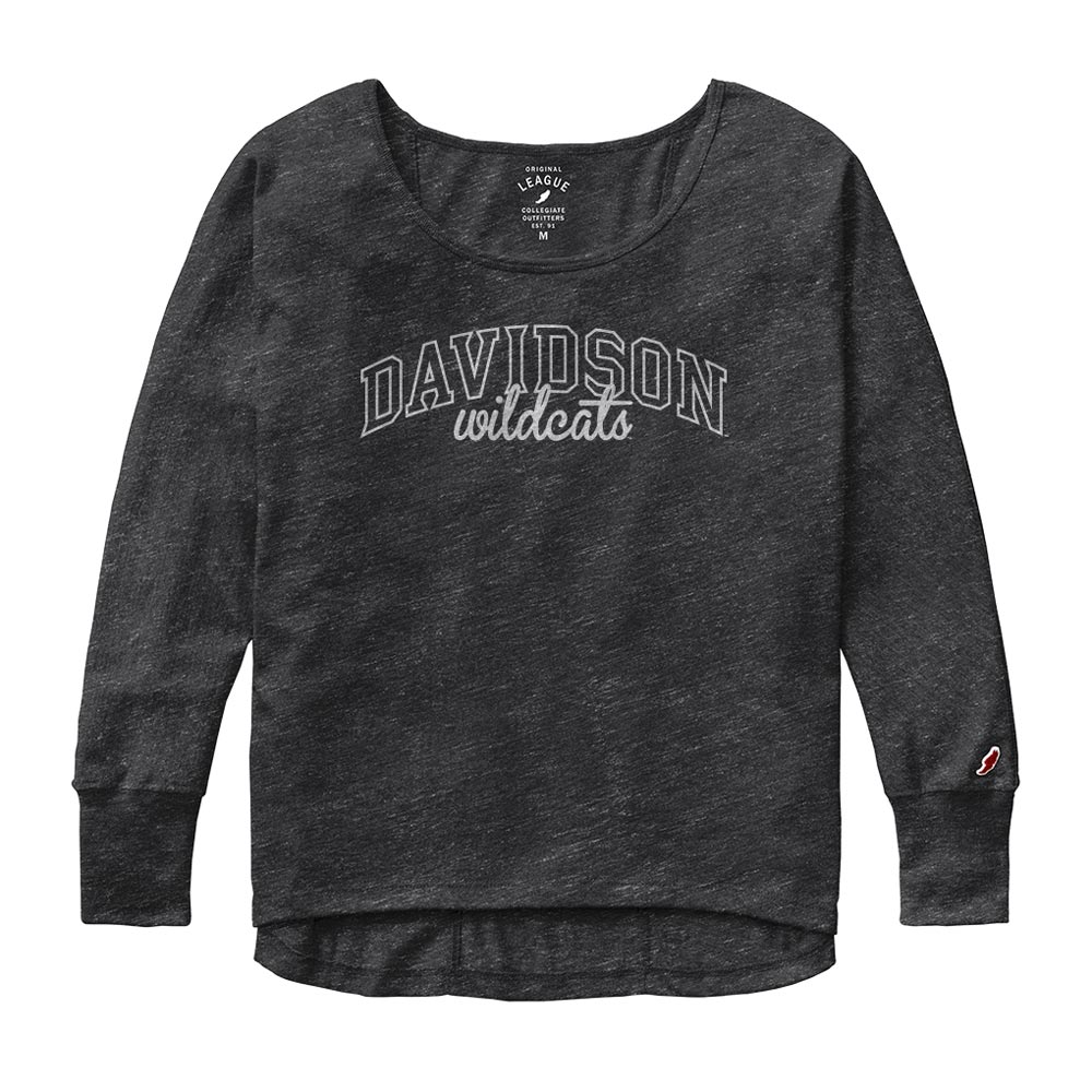 Image For Women's Oversized Black Tee-Davidson Arched Over Wildcats