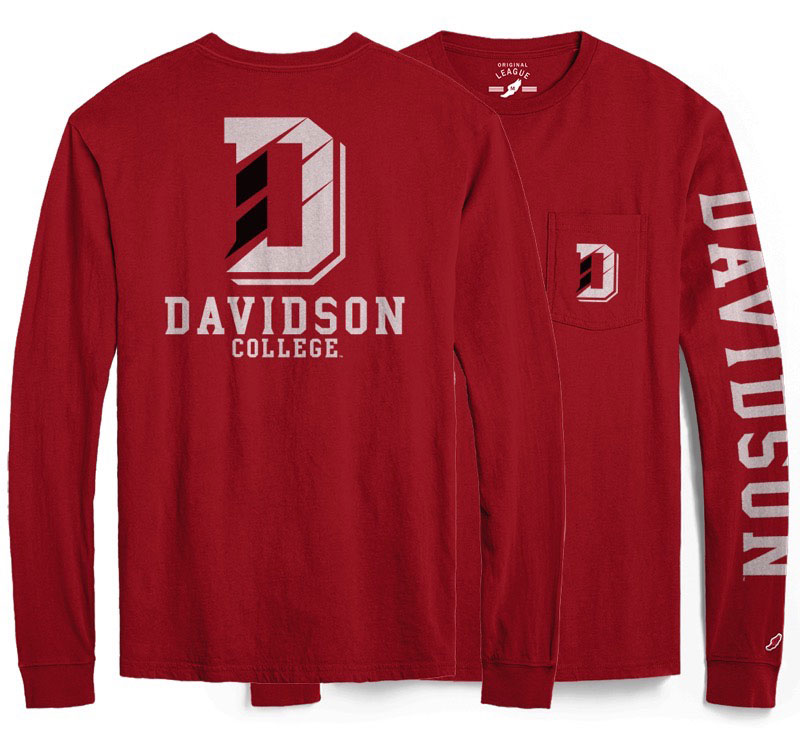 Image For T Shirt Long Sleeve With Pocket - Red - D Logo