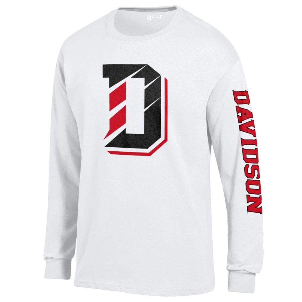 Image For Long Sleeve T-Shirt White-D logo