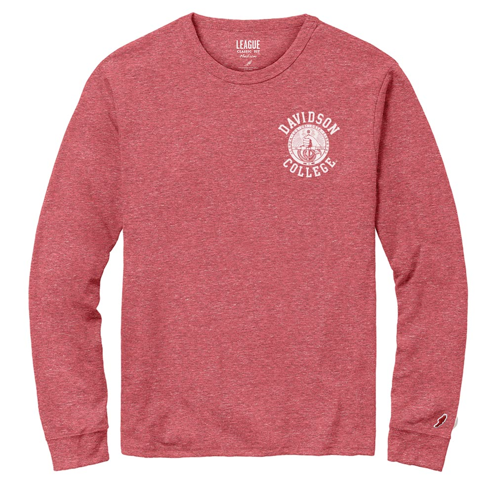 Image For Long Sleeve Tee Red Twist-Davidson Over Seal