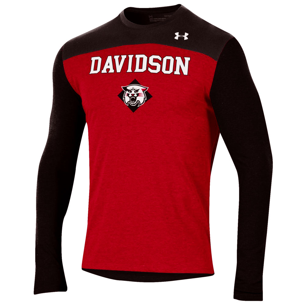 Image For Long Sleeve T Shirt Color Block - Red/Black