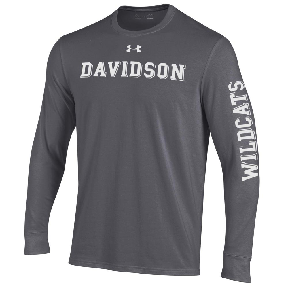 Image For Long Sleeve T Shirt - Carbon Heather - Davidson Straight