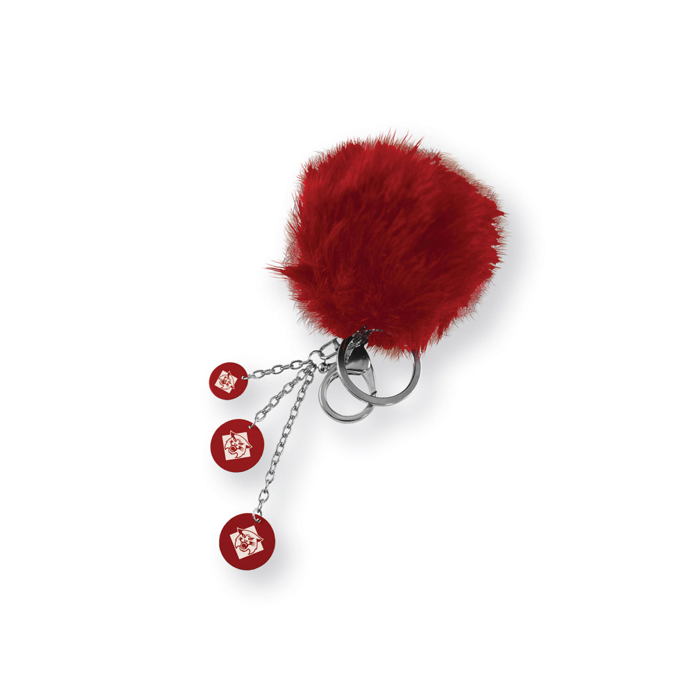Image For Key Chain Puffball - Red