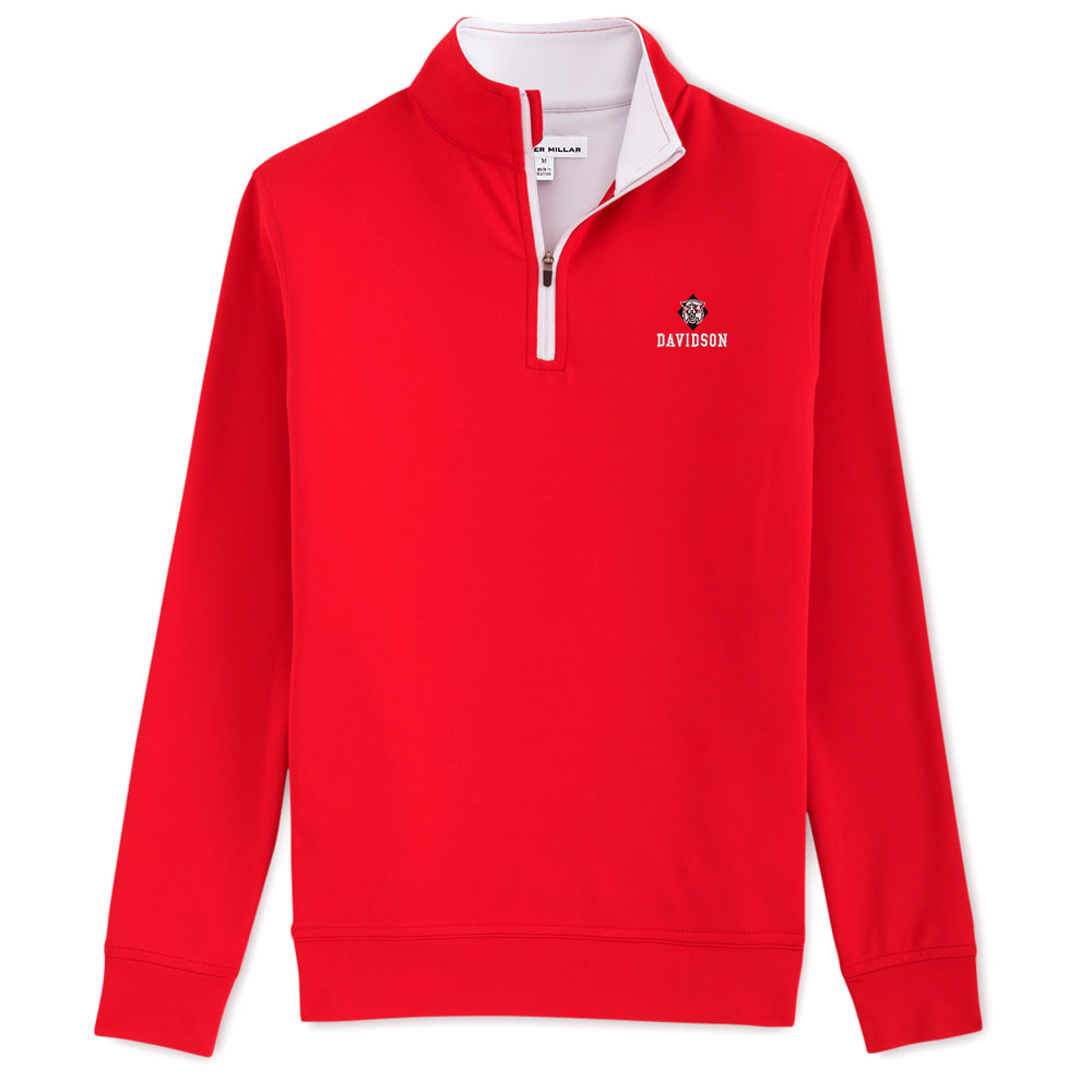 Image For Quarter Zip - Red - Perth Stretch - Wildcat Over Davidson